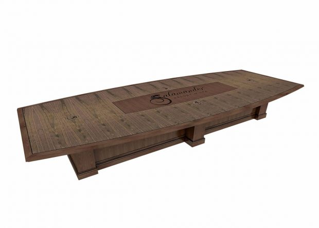 Salamander Resort Custom Dark Walnut Meeting Table