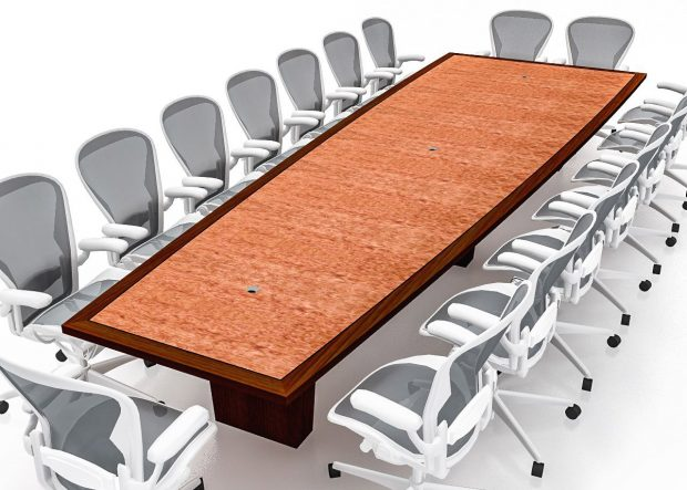 Windmark Curved Keystone Long Conference Table