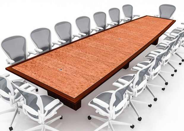 Windmark Curved Keystone Traditional Conference Table