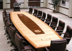Buckley AFB Exotic Wood Conference Table