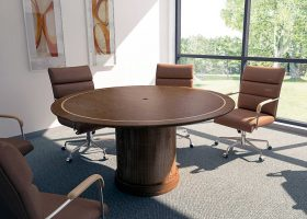 Essent Custom Round Meeting Table