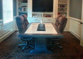 Finch Mediation Communal White Conference Table