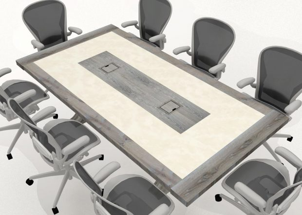 Finch Mediation Communal White Meeting Table