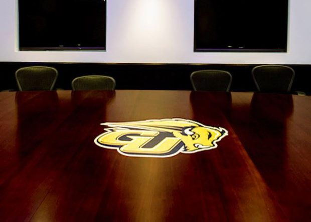 Gallaudet University Large Conference Table with Logo