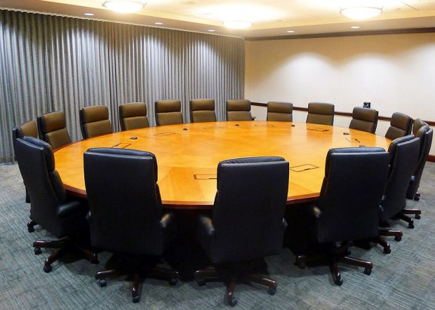 Gardner Denver Custom Oval Conference Table