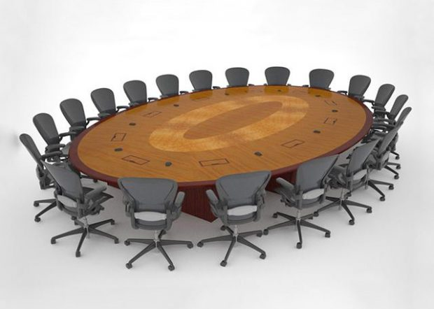 Gardner Denver Premium Oval Conference Room Table