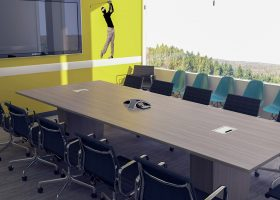 Geico Custom Contemporary Conference Table