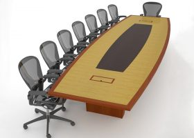 Geocomp Energy Custom Wood Conference Tables
