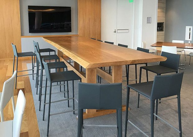Goodwin Procter Live Edge Solid Wood Conference Table