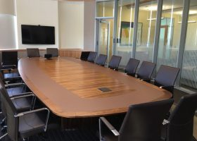 Harvard Chao Center Boat Shape Meeting Table