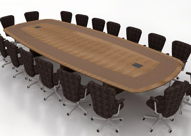 Harvard Chao Center Walnut Meeting Table
