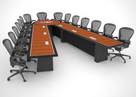 Heil Trailer Scissoring Custom Conference Tables