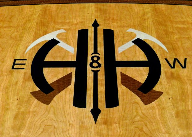 HH Boat Shaped Conference Table with Logo