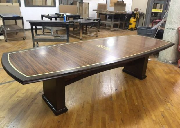 Hinkson Financial Exotic Wood Conference Table