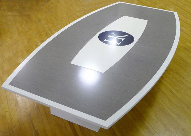 Holmes Kurnik Stained Grey Conference Table