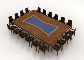 HPG Embassy Suites 20 Person Conference Table