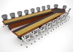 HUD Adjustable Custom Conference Tables
