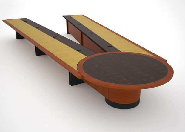 HUD Reconfigurable Conference Room Tables
