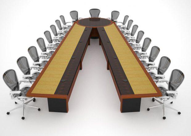 HUD V Shaped Conference Table