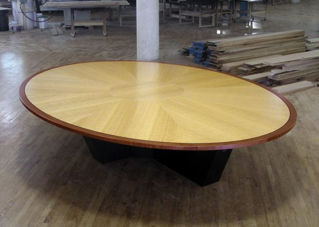 Human Capital Custom Oval Conference Room Table