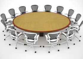 Human Capital Large Oval Conference Table