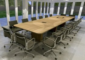 Joseph Oat Corporation Rectangular Conference Table
