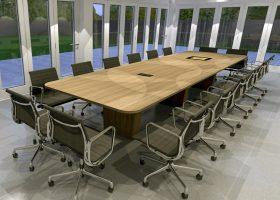 Joseph Oat Corporation Rectangular Conference Table