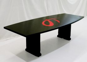 JT Engineering Custom Black Modern Conference Table