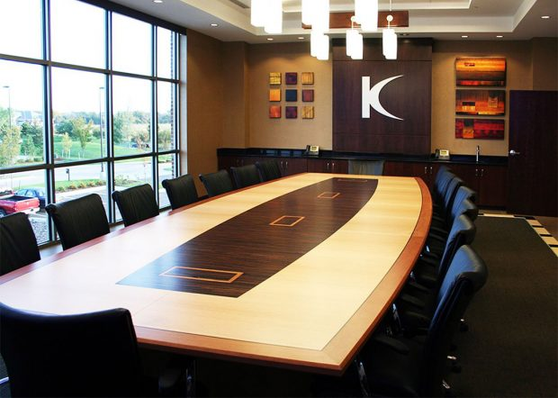Kennedy Coe Boat Shaped Conference Table