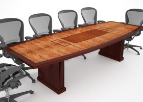 Keplar Boat Conference Table with Power Hatches