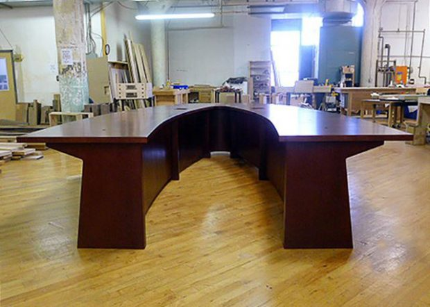 Lackland AFB U-Shaped Cherry Conference Table