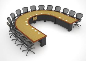 Lockheed Martin Large Conference Table