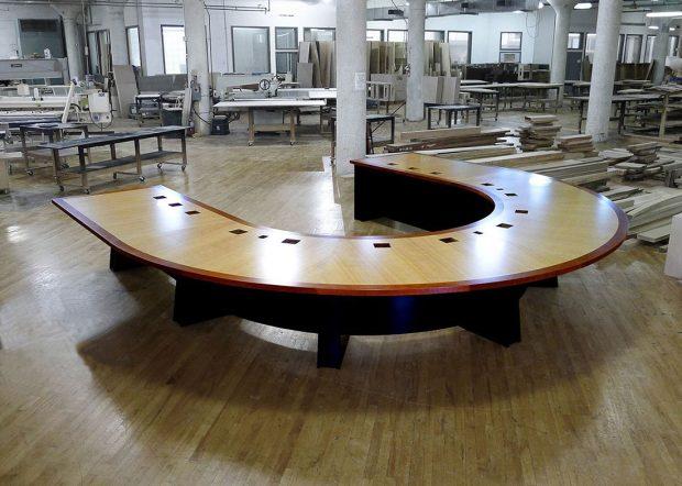 Lockheed Martin Large U Shaped Meeting Table
