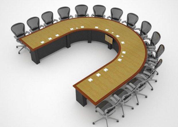 Lockheed Martin U Shaped Conference Table