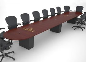 Lockheed Martin Raptor Custom Long Conference Table