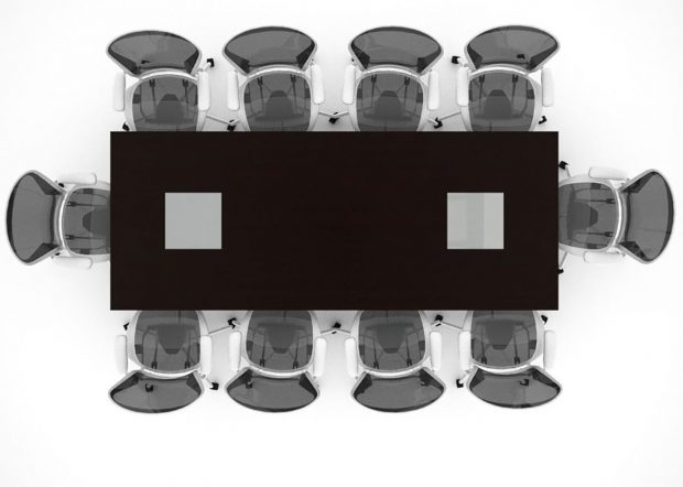 Luckey Rectangular Conference Table with Power
