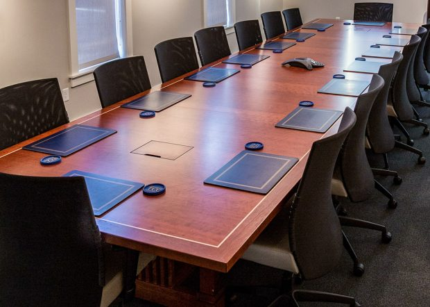 Chemical Company Powered Rectangular Conference Table