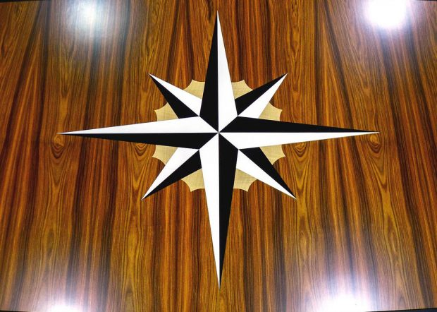 Christian Brothers Custom Round Conference Table with Logo