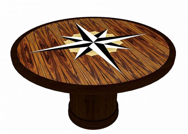 Christian Brothers Round Conference Room Table with Logo