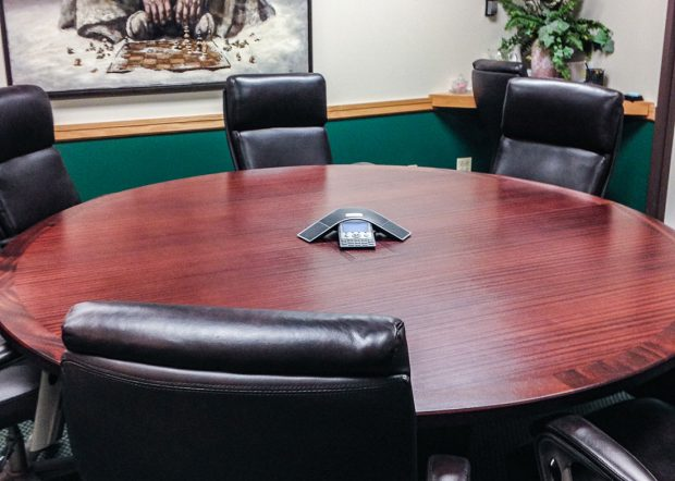 Hoey and Farina Custom Round Conference Table