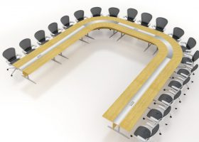 Magma U Shaped Modular Conference Room Tables