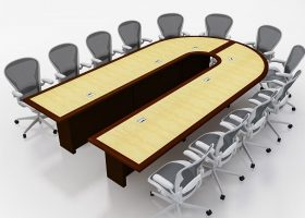 Mallinckrodt Modular Conference Room Table