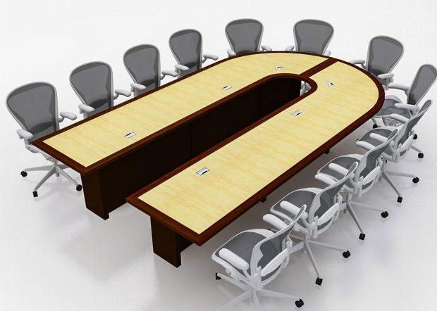 Mallinckrodt Modular Conference Room Table