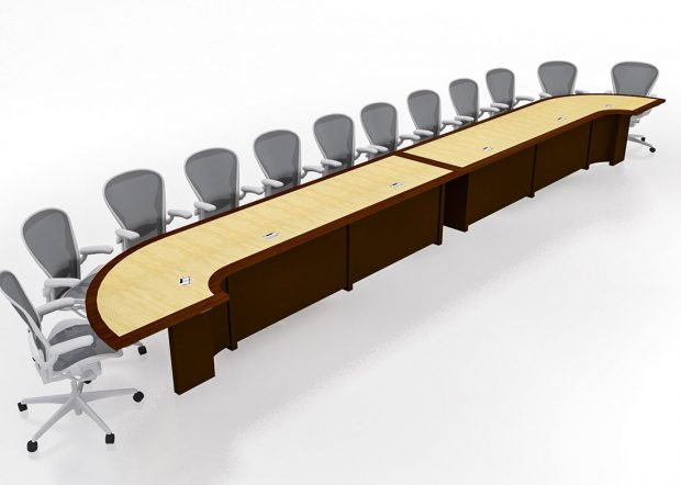 Mallinckrodt Modular U Shaped Conference Table