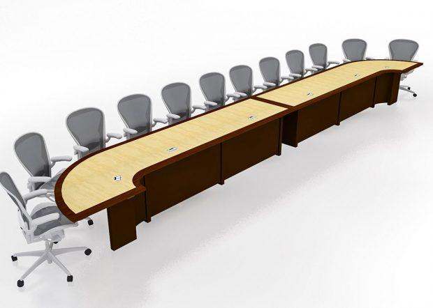 Mallinckrodt Modular U Shaped Conference Table