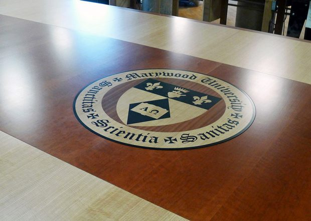 Marywood University Big Conference Table with Logo