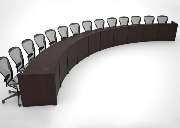 Memphis LGW Custom Curved Conference Table