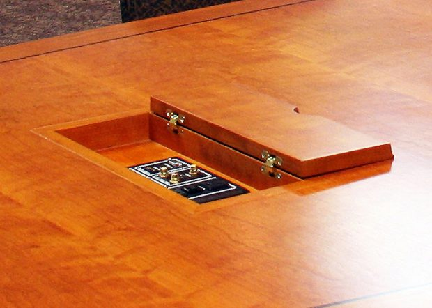 Michigan State University Boat Shaped Conference Table