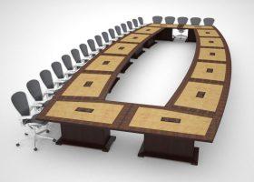 NASA Glenn Research Center Modular Boardroom Table