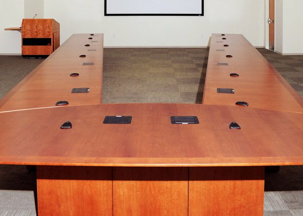 NASA Langley Research Center Adjustable Conference Room Table